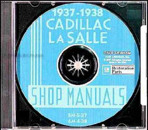 1937 1938 CADILLAC & LaSALLE FACTORY REPAIR SHOP & SERVICE MANUALCD INCLUDES models 60, 60, 60S, 65, 70, 75, 85, 90, and La Salle 50, and V8, V12, and V16 engines. 37 38 (Lasalle Three Light)