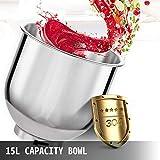 Happybuy Commercial Food Mixer 15Qt 600W 3 Speeds
