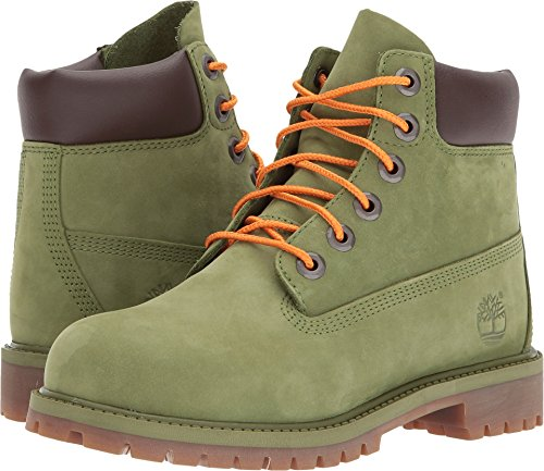 Timberland Kids Unisex 6'' Premium Waterproof Boot (Big Kid) Pesto Waterbuck 7 M US Big Kid by Timberland