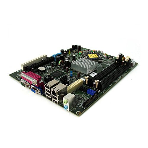 Genuine Dell Intel Q35 Express w/ ICH9D0 Socket 775 SFF Small Form Motherboard For Optiplex 755 Part Number: PU052