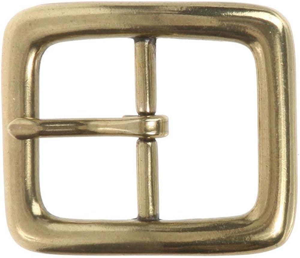 BBBelts Men 1-1//4 No Nickel Single Prong Antique Brass Rectangular Belt Buckle