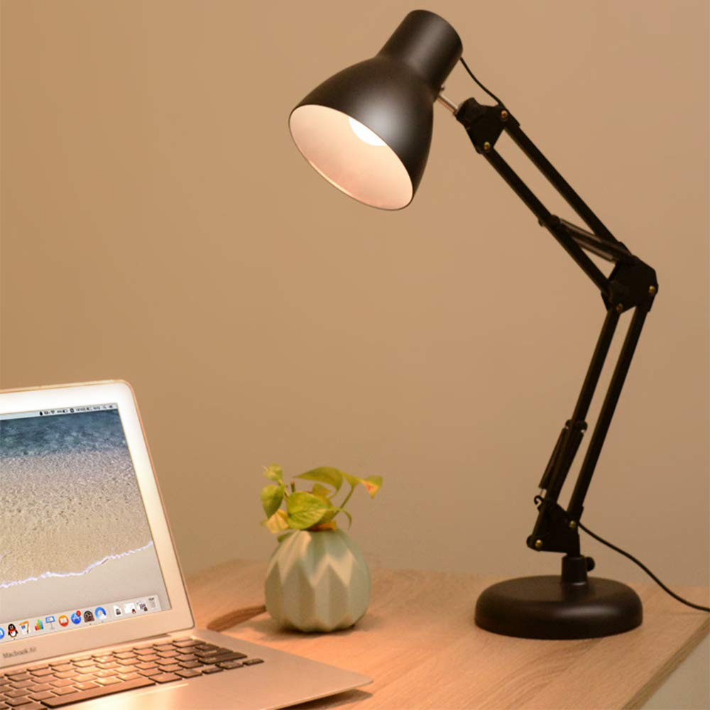 SZJJI Lámpara de Mesa LED lámpara de Brazo Largo Trabajo Lectura ...