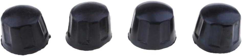 schwarz Generic 4pcs Gummi Staubschutzkappen F/ür 50CC 70CC 110CC 125CC Quad ATV