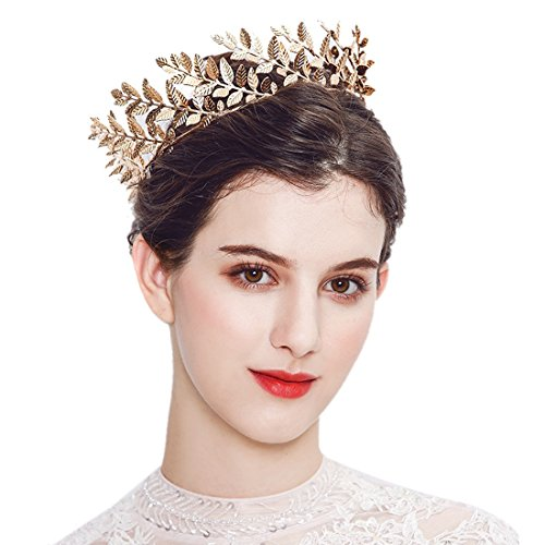 Greek Goddess Accessories Gold Leaf Branch Headbands Medieval Headpiece-Roman Costume Crown Bridal Wedding (Location De Costumes Medievaux)