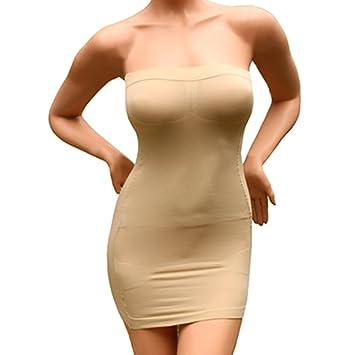 Andux Mini vestido sin tirantes faja ropa interior para mujer SS-W03 ...