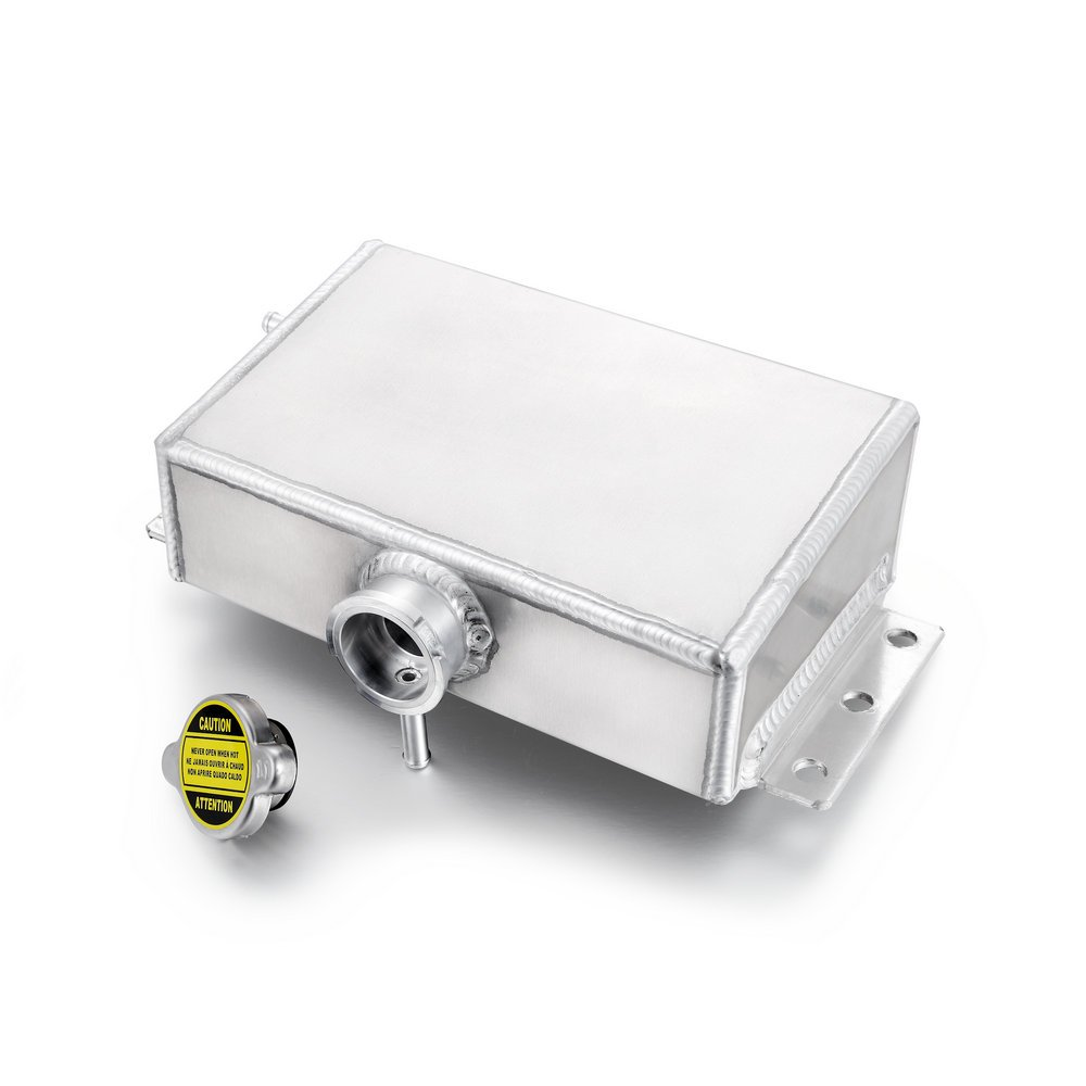 Heinmo de aluminio Dep/ósito refrigerante de expansi/ón para Civic 240SX WRX Eclipse universal 1,6L
