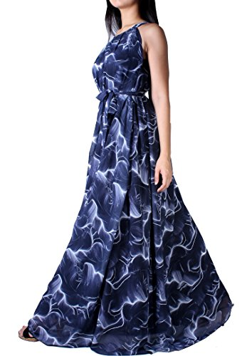 [MayriDress Women's Maxi Dress Long Summer Floral Plus Size Clothing (5X-Long 57 inch, Navy/ White)] (Cheap Plus Size Fancy Dress)