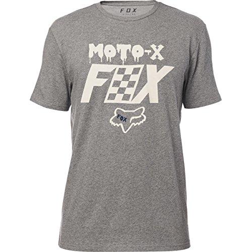 (Fox Men's Airline Trudri Modern Fit Short Sleeve Tech T-Shirt, Heather Dark Grey, M)