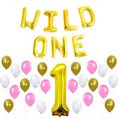 WILD ONE BIRTHDAY DECORATION KIT - Pink White