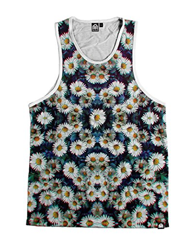 Into The AM Trippy Daisies All Over Print Tank Top (XX-Large)