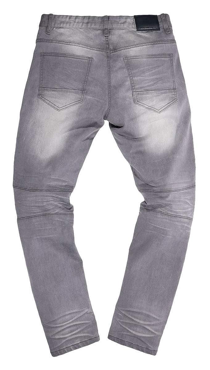 Smoke Rise Mens Slim Cut /& Sew Moto Denim Jeans