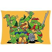 Cartoon Anime Design Custom Personalized Teenage Mutant Ninja Turtle Zippered Standard Pillowcases 16x24 inch (Two sides) Number-2