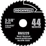 Rockwell RW9229 3-3/8-Inch VersaCut 3 44T High Speed Steel Circular Saw Blade