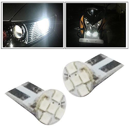 Vheelocityin 5LED Parking Bulb Flat Shape for All Cars/ Bikes/ Scooty