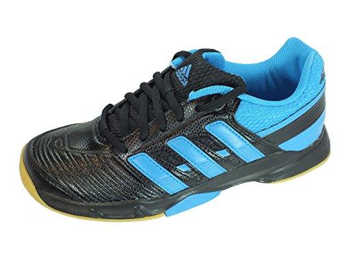 adidas Jungen Court Stabil Elite XJ Multisport Indoor Schuhe, 36 EU BLACK1/SOLBL