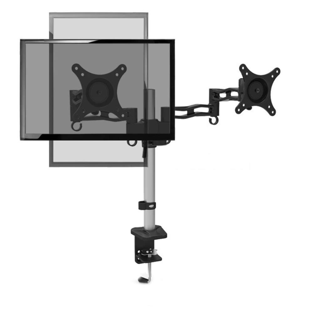2つのアームモニタマウントデスクマウントデュアルモニタスタンドフリースタンディングフリースタンディング2台のコンピュータ LED ディスプレイスタンド   B07JMD3K97