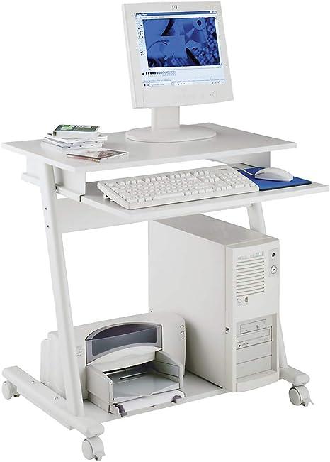 Computer mesa – Ancho 800 mm, 3 niveles color gris – de la ...