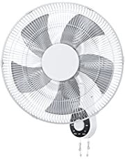 """Wall Mount Fan, 16"""" High Velocity Wall Fan with 5 Blades, 3 Speeds, 90° Oscillating, Adjustable Tilt, ETL Certified for Bedroom, Office, Warehouse, Workshop, Patio, and Basement"""