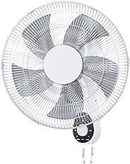 "Wall Mount Fan, 16"" High Velocity Wall Fan with 5 Blades, 3 Speeds, 90° Oscillating, Adjustable Tilt, ETL"