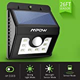 Mpow Solar Lights, 8 LED Super Bright Motion Sensor Security Lights ,Detector Street Lights with 3 Intelligent Modes for Home,Garden,Patio