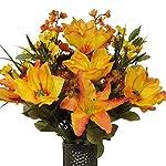 Orange-magnolia-orange-stargazer-lily-Artificial-Bouquet-featuring-the-Stay-In-The-Vase-Designc-Flower-Holder-MD1410