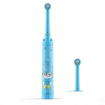 Niño Cepillo De Dientes Electrico Cepillo Dental Giratorio,1 Cabeza De Cepillo De Dientes Reemplazable,Impermeable,Cerdas Suaves,Azul: Amazon.es: Salud y ...
