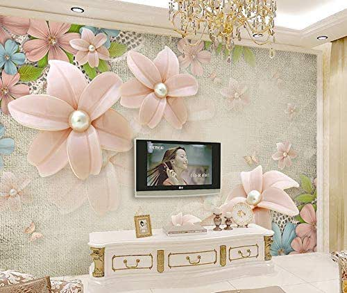Amazon.com: Murwall Floral Wallpaper Pink Pearl Daisy Wall
