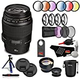 Canon EF 100mm f/2.8 Macro USM Lens Professional Kit International Model