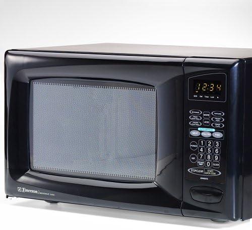 Amazon Com Emerson Mw8987b 0 9 Cu Ft 900watt Microwave Oven Black Kitchen Dining