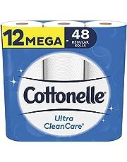 Cottonelle Ultra Cleancare Toilet Paper, 12 Mega Rolls Bathroom Tissue (48 Regular Rolls)