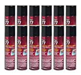 QTY12 3M SUPER 77 SPRAY GLUE 7.3 OZ ADHESIVE for FOIL PLASTIC PAPER FOAM METAL