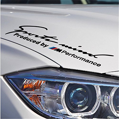 "2pcs 11""x3.9"" New Car Sports Styling Racing Decoration Performance Head Stickers Front Decal Styling For BMW M3 M5 X1 X3 X5 X6 E36 E39 E46 E30 E60 E92"