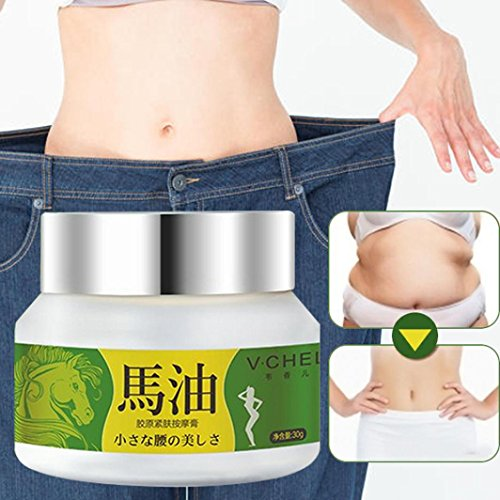 Weight Loss Cream, Exteren 80g Slimming Body Contouring Curve Tempting Whitening Slimming Cream (White) ()