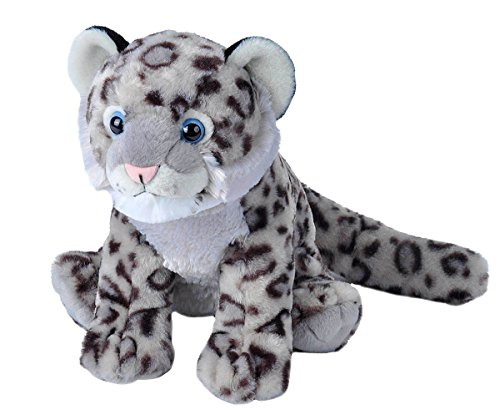 Wild Republic Snow Leopard Cub Plush, Stuffed Animal, Plush Toy, Gifts for Kids, Cuddlekins 12 Inches