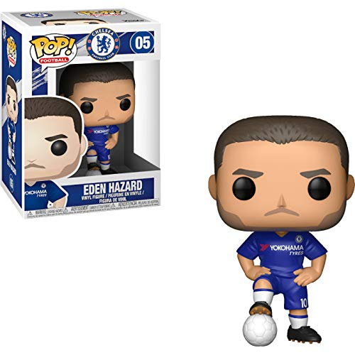 Eden Hazard [Chelsea]: x POP! Football / Soccer Vinyl Figure & 1 POP! Compatible PET Plastic Graphical Protector Bundle [#005 / 29218 - B]