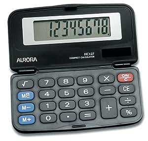 Aurora HC127 Dual Power Executive Foldable Style 8 Digit Hardcase Calculator