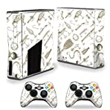 Skin For Xbox 360 S Slim + 2 controllers – Retro Lures | MightySkins Protective, Durable, and Unique Vinyl Decal wrap cover | Easy To Apply, Remove, and Change Styles | Made in the USA