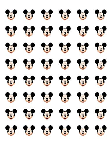 USTORE Sticker 48 Mickey Mouse FACE Envelope Seals Labels, 1.2