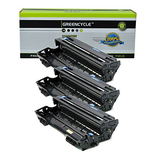 GREENCYCLE Compatible DR400 DR-400 Drum Unit Replacement for Brother Intellifax 4100 4100e 5750 5750e MFC-1260 MFC-9870 MFC-9700 MFC-2500 MFC-9870 DCP-1400 DCP-1200 Series Printer (Black, 3 Pack) ()