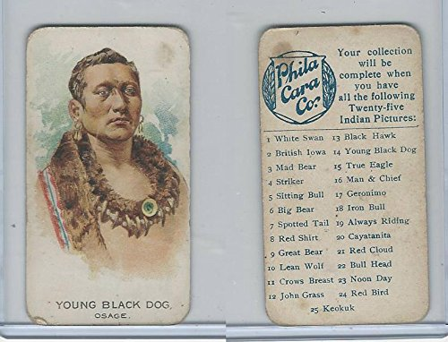 E46 Philadelphia Caramel, Indian Pictures, 1911, Young Black Dog, - Osage Pictures