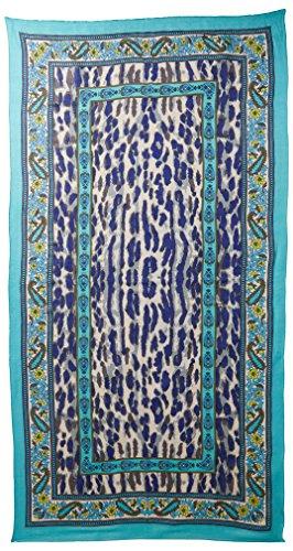 Theodora & Callum Women's Cheetah Paisley Scarf, Turquoise/Multi by Theodora & Callum