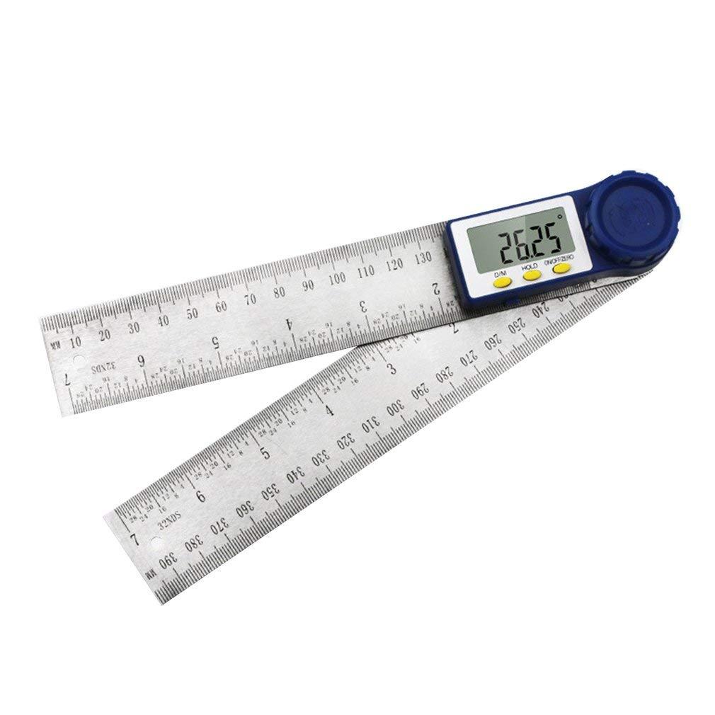 Inch 2 in 1 Digital Protractor Digital Goniometer Digital Angle Finder Ruler 300mm Stainless Steel Angle Gauge HOHXEN Digital Angle Finder Ruler 12