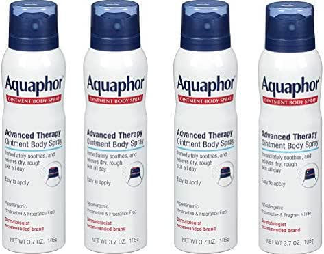 Aquaphor Ointment Body Spray - Moisturizes and Heals Dry, Rough Skin - 3.7 oz. Spray Can, 4 Pack