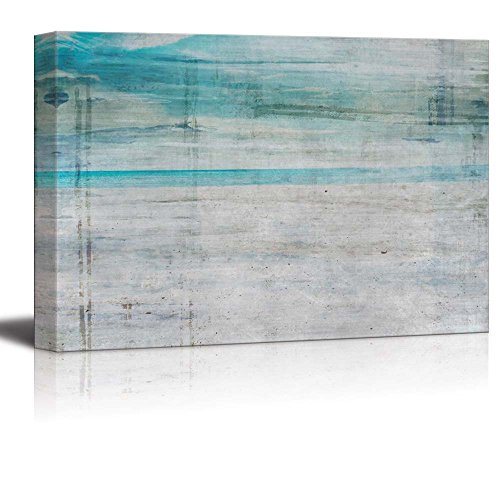 Vibrant Aqua and Silver Stripes with Grain Texture Over It