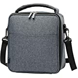 E-manis Insulated Lunch Bag Lunch Box Cooler Bag with Shoulder Strap for Men Women Kids (gray)