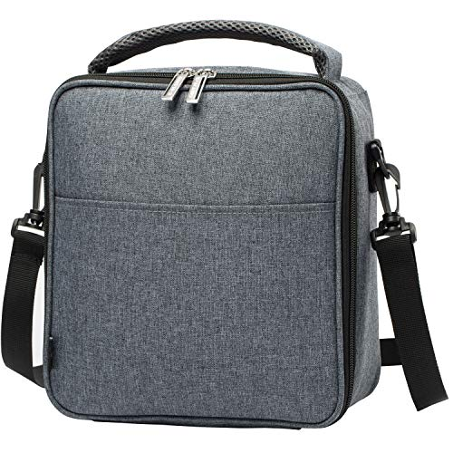 E-manis Insulated Lunch Bag Lunch Box Cooler Bag with Shoulder Strap for Men Women Kids (gray) ()