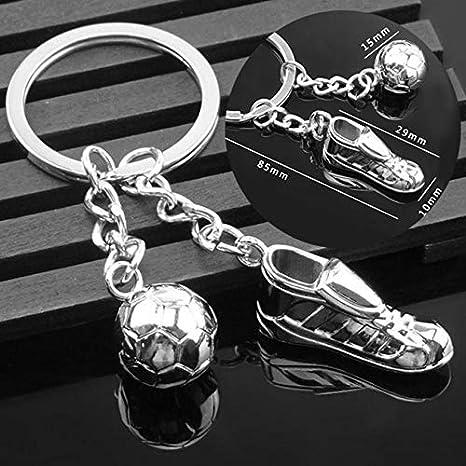 RoadRomao Zapatos de fútbol Creativo de fútbol llaveros para ...