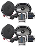 5 8 copper washer - 2 Pairs Rockville RV68.2C 6x8/5x7 Component Car Speakers 1800 Watts/340w RMS CEA