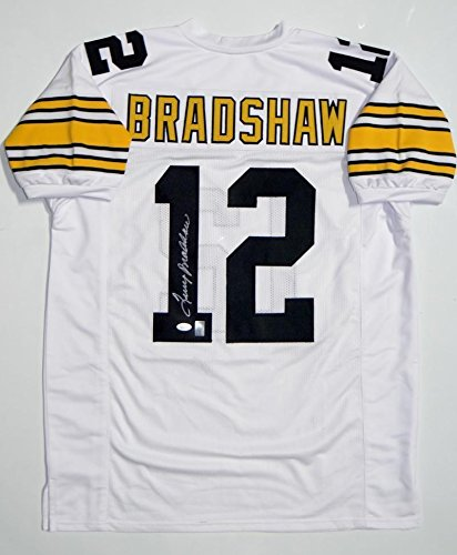 new product bd8d0 c1a60 Signed Terry Bradshaw Jersey - White W - JSA Certified ...