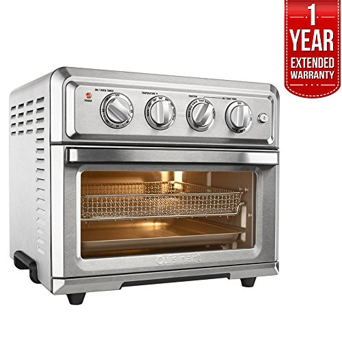 - Cuisinart TOA-60 Convection Toaster Oven Air Fryer with Light, Silver w/1 Year Extended Warranty